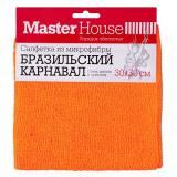 Master House Салфетка из микрофибры Бразильский карнавал 30x30см (синий, оранжевый, желтые) [1/50/200?]