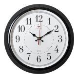 3024-123B (10) Часы настенные круг d=30см, корпус черный