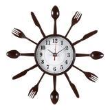 3313-334 (10) Часы настенные вилки-ложки d=33см, корпус коричневый