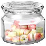 Mallony Стеклянная банка для сыпучих продуктов со стекл плоской крышкой, ARIA, объем: 0,3 л [1/48]