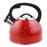 Mallony Arte Чайник 2,5л со свистком, нерж.сталь, красный с белыми точками [1/12]