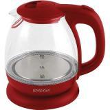 ENERGY E-296 Чайник электрический, мощность 900-1100Вт, Объем 1,0 л, (красный), стекло, пластик [1/8]
