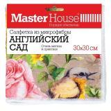 Master House Салфетка из микрофибры Английский сад 30x30см [1/50/200]