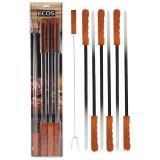 ECOS 23003D Набор шампуров 6 штук+вилка для мяса, деревян. ручки, нерж.сталь [1/12]