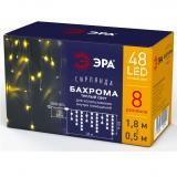 ЭРА ENIB-01B Гирлянда LED Бахрома 1,8 м*1,5 теплый свет 8 режимов 220V, IP20 [1]