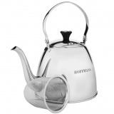 Hoffmann 55121 Чайник заварочный 1,2 л, сталь, с ситечком [1]