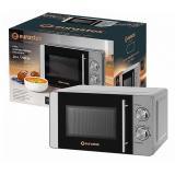 Eurostek EMO-WL01M Микроволновая печь, Мощность: 700Вт, Объем: 20л, механ.ПУ, ручка  д/отк.дверцы, цвет - серебро [1]