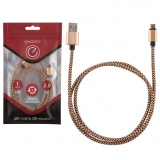 Energy ET-02 Кабель USB/MicroUSB, цвет - золотой [1/50]