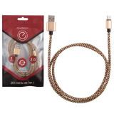 Energy ET-02 Кабель USB/Type-C, цвет - золотой [1/50]