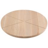 Mallony Доска разделочная для пиццы, бук 32х1,5см. 6 кусков [1/20]