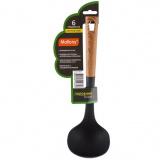 Mallony Половник из нейлона, FORESTA, с пластм ручкой/дизайн под дерево, 32*9,5 см [1/24]