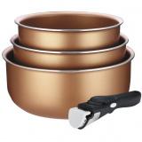 Galaxy GL 9520 Набор посуды с антипригарным покрытием 4 предмета: ковш 1,3л= 16,7см, ковш 1,85л= 18,8см, ковш 2,6л= 20,9см, съемная ручка; термоаккуму