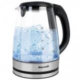 MAXWELL MW-1088 (TR) Чайник электрический, Мощность: 1850Вт, Объем: 1,8л (стекло) [1/8]
