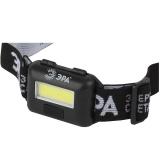 ЭРА GB-607 Фонарь налобный  с влагозащитой (3Вт COB LED Extra, 3хААА, бл) [1/10]