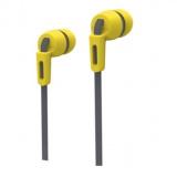 Smartbuy Mob, Внутриканальные наушники плоский кабель, сменные насадки, желт/серые (SBE-880 [1]