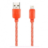 Smartbuy Дата-кабель 8pin SILICONE SPIRAL, красный, 2 А, 1 м [1/100?]