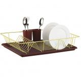 Zeidan Z-11001 коричневая Сушилка для посуды –(размер: 480 мм x 300 мм x 100 мм), материал – высококачественная сталь [1/6]