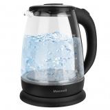 MAXWELL MW-1003 (TR) Чайник электрический, Мощность: 2200Вт, Объем: 1,7л (стекло) [1/8]