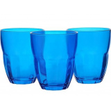 Bormioli Rocco ERCOLE стаканы 230 мл, голубые, набор 3 шт. цв.рукав [1/6]