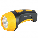 Ultraflash LED3804   (фонарь аккум 220В, черный/желтый, 4 LED, SLA, пластик, коробка) [1/5/80?]