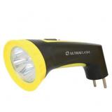 Ultraflash LED3804M  (фонарь аккум 220В, черный/желтый, 4 LED, SLA, пластик, коробка) [1/5/80?]