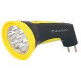 Ultraflash LED3807M  (фонарь аккум 220В, черный/желтый, 7 LED, 2 режима, SLA, пластик, коробка) [1/5/60?]