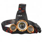 Ultraflash E1333 (фонарь налоб акк 3,7В, золот /черн, 3LED, 4 Ватт, фокус, 2 ак 4 реж, метал., бокс) [1/1?]
