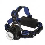 Ultraflash E150 (фонарь налобн аккум  220В, черный, CREE 3 Ватт, фокус, 2 ак 3 реж, пласт, бокс) [1]
