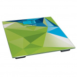 ERGOLUX ELX-SB03-C34, Весы напольные электронные, Нагрузка 180 кг, Литиевая батарея в комплекте (1хCR2032), абстракция зелено-синяя [1/8]