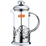 Mallony LAVELLO Чайник/кофейник (кофе-пресс) стеклянный, 350 мл, в корп из нерж стали [1/12]