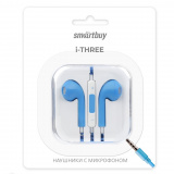 Smartbuy i-Three, Универсальная гарнитура голубая (SBH-104-BL) [1/50?]