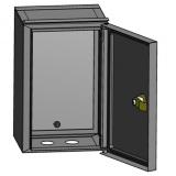 ЭРА ЩУ-МП (295х190х110) Металлич. корпус навесной  с окном и кронштейном для крепления [1]