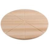 Mallony Доска разделочная для пиццы, бук 40х1,5см 8 кусков [1/20]