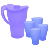 "Mallony Набор ""Кувшин+4 стакана"" фиолетовый [1/12]"