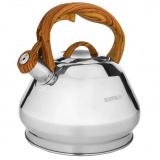 Hoffmann 55156 чайник со свистком, с/кор. ручка,матов. пол., 3,0 л. [1/12?]