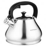 Hoffmann 55159 чайник со свистком, черн. ручка,матов. пов., 3,3 л. [1/12?]