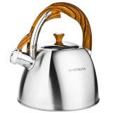 Hoffmann 55161 чайник со свистком, комбин.кор. ручка,матов. пов., 2,3 л. [1/12?]
