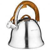 Hoffmann 55162 чайник со свистком, комб.кор. ручка,матов. пов., 3 л. [1/12?]
