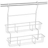 Полка двухъярусная навесная для кухни FORTUNA PR-06, 28,5*14*30,5 см [1/4?]