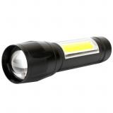 Ultraflash E1337 (фонарь аккум 3,7В, черный, XPE + COB LED, 3 Ватт, 3 реж., бокс) [1]