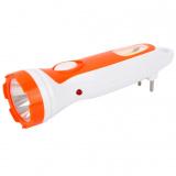 Ultraflash LED3860   (фонарь акку 220В, бел. /оранж., 1+COB LED, 2 режима, SLA, пластик, коробка) [1/176?]