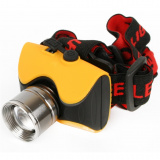 Ultraflash E157 (фонарь налобн аккум  220В, желтый, CREE 3 Ватт, фокус, 3 реж, пласт, бокс) [1]
