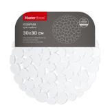 Master House Коврик для мойки 30х30 см, Галька, бесцветный [1/10/40?]