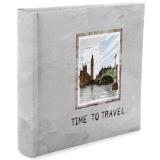Фотоальбом 200ф 10X15см, бум.карм.с мемо, книжн. пер-т, Time to travel [1/12?]