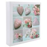 Фотоальбом 500ф 10X15см, ПП карм, пер-т 3-кольца, Hearts and flowers [1/6?]