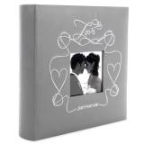 Фотоальбом Делюкс 200ф 10X15см, бум.карм.с мемо, книжн. пер-т., Wedding Heart [1/12?]