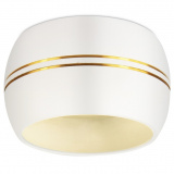 ЭРА OL13 GX53 WH/GD Накладной под лампу Gx53, алюминий, цвет белый/золото [1]
