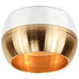ЭРА OL14 GX53 WH/GD светильник накладной под GX53, белый/золото [1]