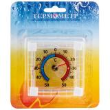 Термометр оконный биметаллический, квадратный ТББ на блистере [1]
