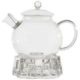Mallony AROMA Чайник заварочный на подставке, объем:1000 мл (боросиликатное стекло, фильтр из нерж.стали) [1/6?/1]